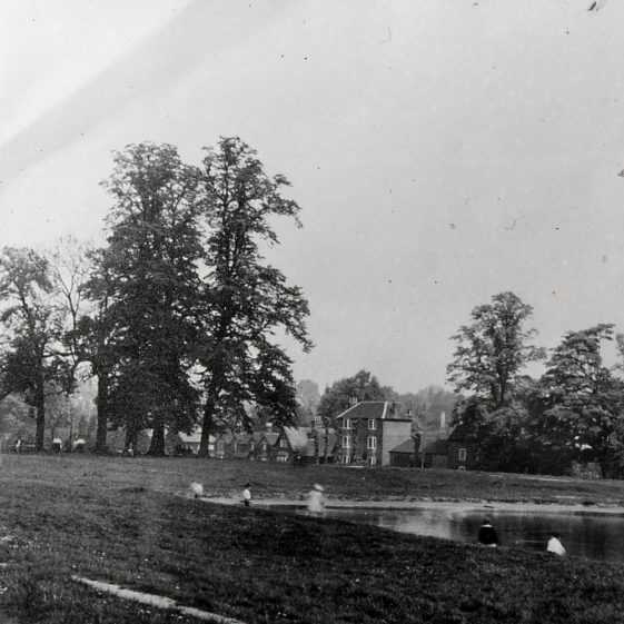 Silver Cup pond after reconstruction as pool - 1900 | LHS archive, cat. no. B 1.66
