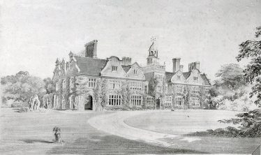 Rothamsted Manor from the SW, before 1863   LHS cat no. B 1.82, artist unkown, possible Lady Caroline Lawes