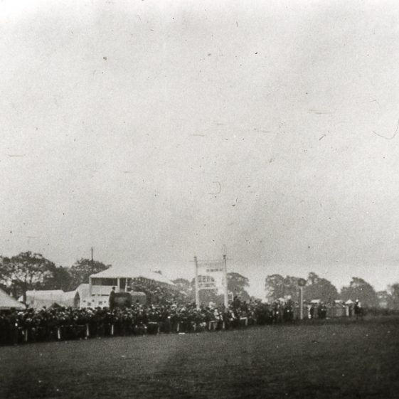 Races on the common - riders approaching - 1900's | Slides Cat no B 1.85