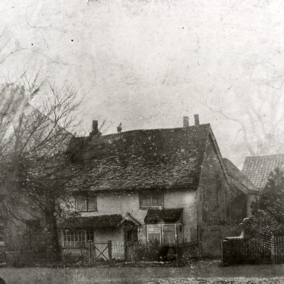 Cottage which became San Toy Shop - next to Rose Cottage - flood in front | Cat no Slides B 1.93