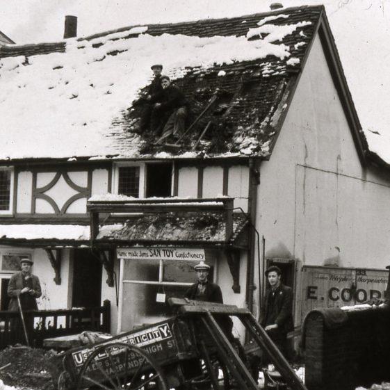 Old San Toy shop next to Rose cottage - being demolished | Cat no Slides B 1.94