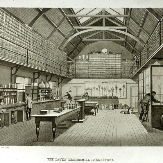 Rothamsted - interior of Testimonial laboratory - 1890s | Cat no Slides B 2.102