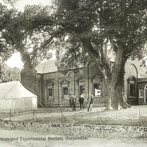 Rothamsted - Testimonial laboratory, marquis for dedication of granite memorial - 1893 | Cat no Slides B 2.103