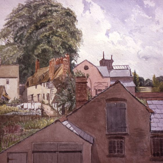 View of Chapel Row, West Common, from Dr Gilbert's house (Abbott's factory in background?) - 1880's | by Lady Gilbert Cat no Slides B 2.16