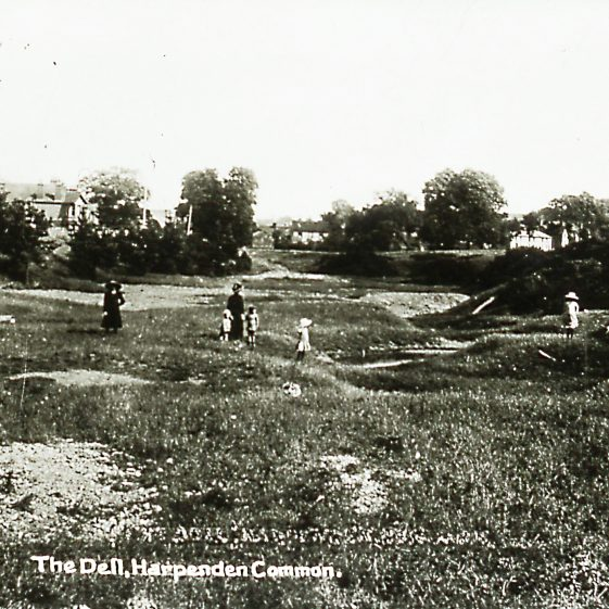 The Dell gravel pit on the Common - 1910 | Cat no Slides B 2.18