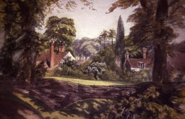 View of Gable End from Dr Gilbert's house | Watercolour by Lady Jane Gilbert, LHS collection