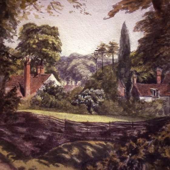 View northwards from the Director's House, 1 West Common, by Jane Gilbert, 1890s | LHS archives, cat.no. B 2.26