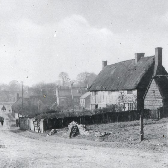 Stakers Lane with Bristle Hall  looking west from Station Approach - 1880's (corner with Victoria Road) | Cat no Slides B 2.45