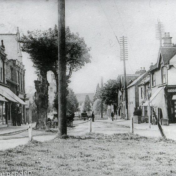 Leyton Road, looking north, Anscombes, Methodist Chapel - 1890's   Cat no Slides B 2.53