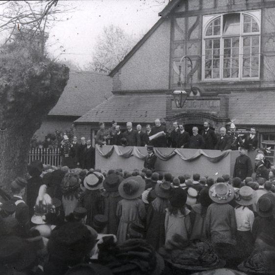 Old Public Hall- declaration in 1911 | Cat no Slides B 2.6