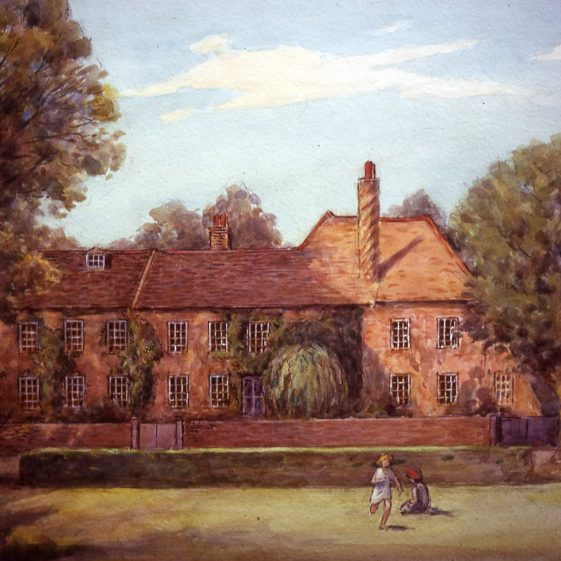 Bowers House in High Street - 1920 | Watercolour by Ernest Hasseldine;  Slide cat.no. B 2.60
