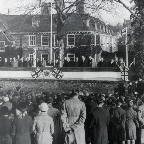 Harpenden Hall - proclamation of George VI - 1937 | Cat no Slides B 2.7