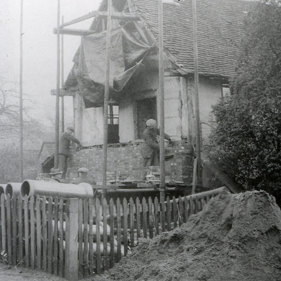 Making good, after demolition of 75 High Street, 1930   LHS archives - cat.no. B 2.73