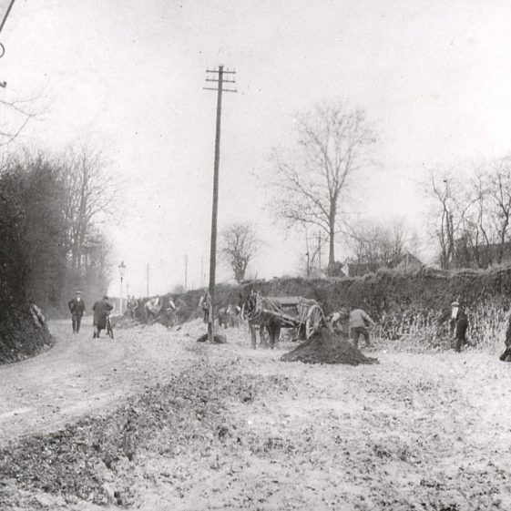 Widening Sun Lane - 1930-31   LHS archives - cat.no. B 2.74