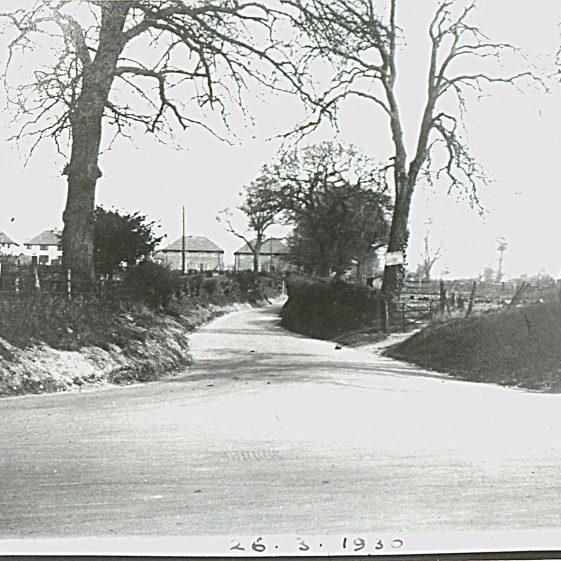 Piggottshill Lane before widening - March 1930   Cat no Slides B 2.84