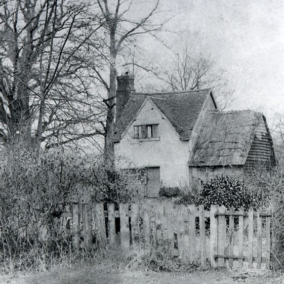 Betsy Peacock's cottage Hatching Green - 1900 | Cat no Slides B 2.91