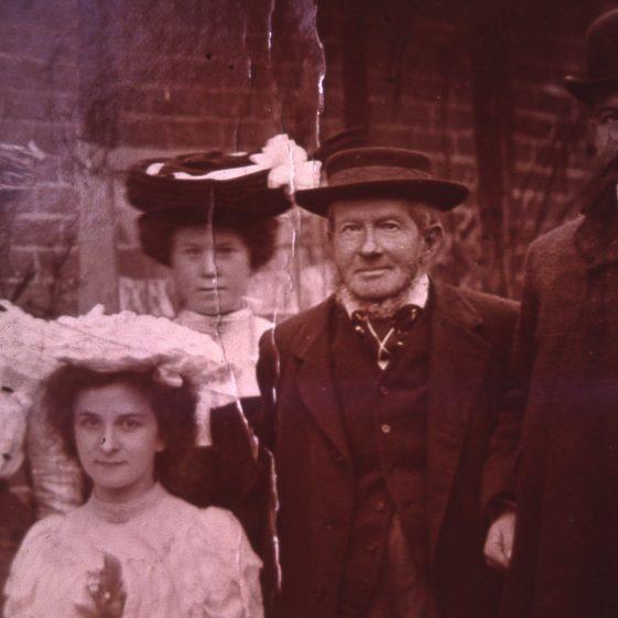 Shepherd Arnold at daughter's wedding in Batford - 1910   Cat no Slides B 3.10