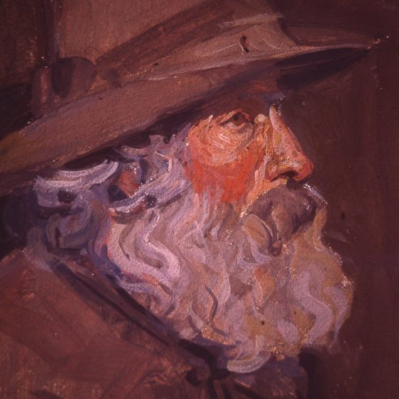 Ernest Heasman - portrait of Shepherd Arnold   LHS archive, cat.no. B 3.12