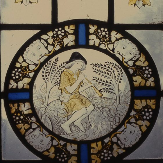 Window in the Administrative Building, St George's School   LHS archives, cat.no. B 3.1