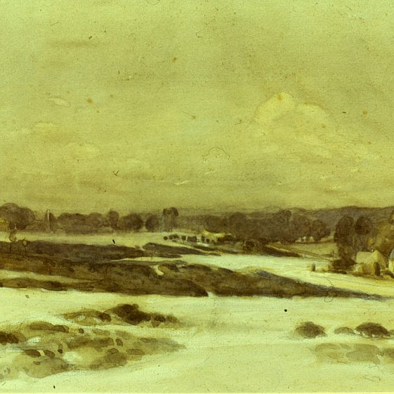 Ernest Heasman - Harpenden Common, looking north, also produced as a Christmas card, 1912   LHS archives, cat.no, B 3.16