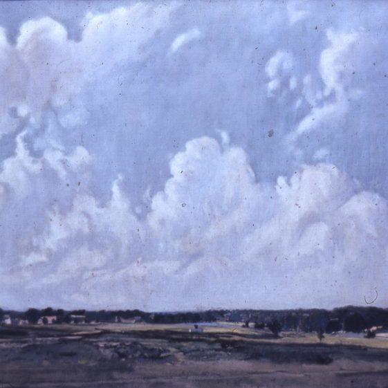Ernest Heasman - oilpainting of Harpenden Common   LHs archives, cat.no. B 3.17