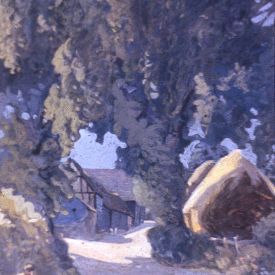 5. Cross Farm -1917 - watercolour by Ernest Heasman | Cat no Slides B 3.3