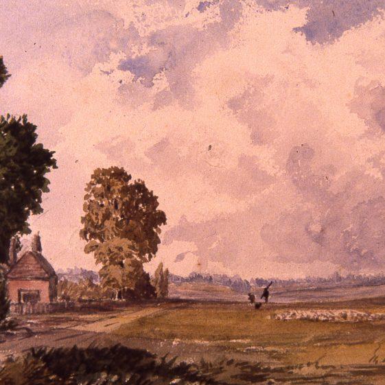 The Common - Sheepskin Hall by F de la Poer | Cat no Slides B 3.48