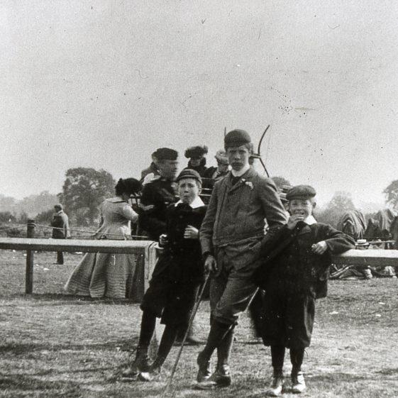 Spectators at the races - 1900's | Cat no B 3.70