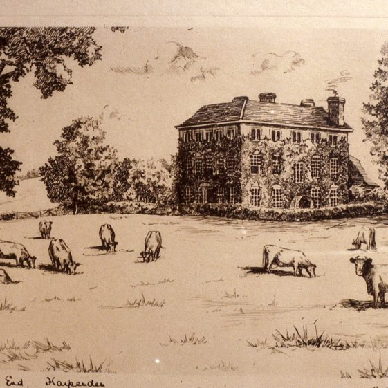 Hammonds End sketch by A T Mardall | Cat no Slides B 3.87