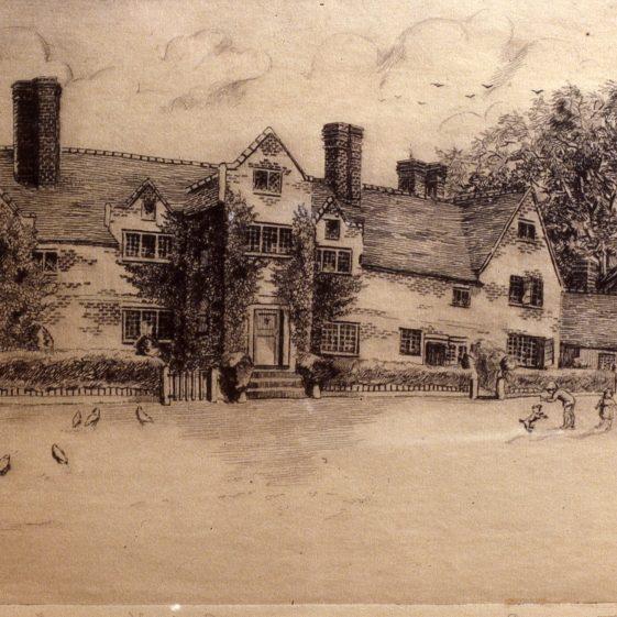 6. Cross Farm - 1900's - sketch by A T Mardall | Cat no Slides B 3.89