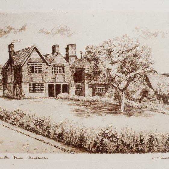 7. Bamville Farm - 1900's - sketch by A T Mardall | Cat no Slides B 3.93
