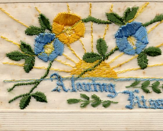 5.  Embroidered card - To Annie from Bertie, 2 November 1916 | Di Castle's family albums