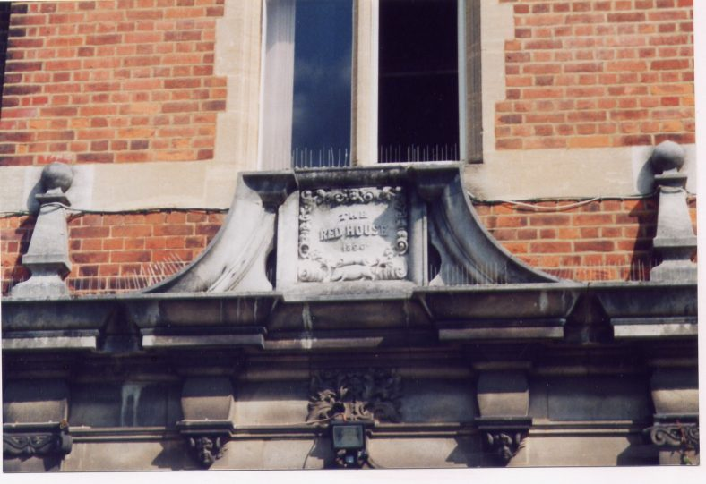 Plaque, marking rebuilding in 1896 | Les Casey, 2000