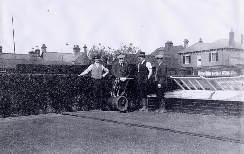 James MacDonald with staff, gardens of 29 Station Road | LHS archives cat.no. LHS/009575 RB170