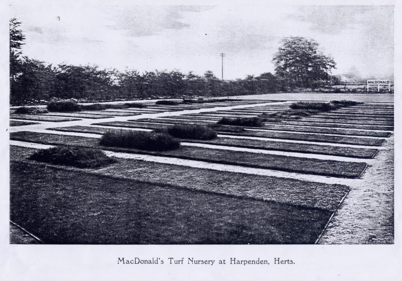 Turf beds on the site of Kipling Way, alongside Granary Lane | LHS archives, RB170