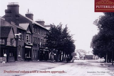 Putterills Estate Agents - advertising a view in 1897 of the site of their office at 42 High Street. | Putterills, March 2013