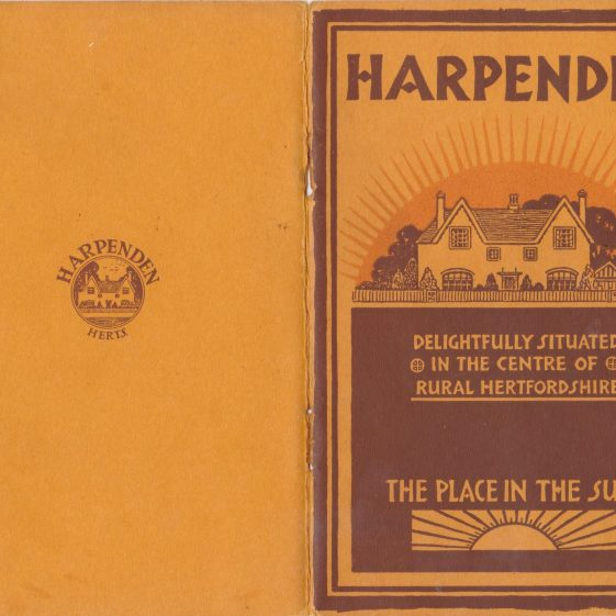Jarvis Brothers promotional  brochure on Harpenden in the late 1930s