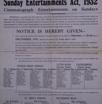 Sunday opening for Harpenden cinemas