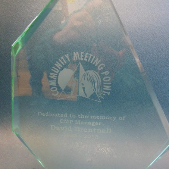 Plaque in memory of David Brentnall, volunteer | R Ross, April 2018, original in LHS archives