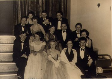 A Cobra Club night out with friends, Harpenden Public Hall, 1954. John Wyborn is on the left of the front row. | John Wyborn