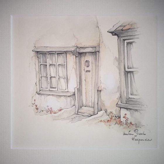 Cottage door in Harpenden | Anton Pieck - Copyright of the Pieck family