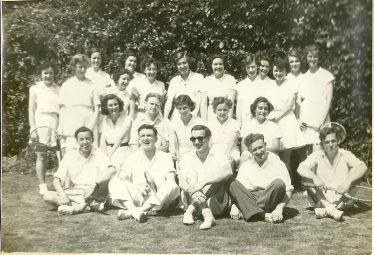 Cobra Club tennis party, Amenbury Lane, 1953 | John Wyborn