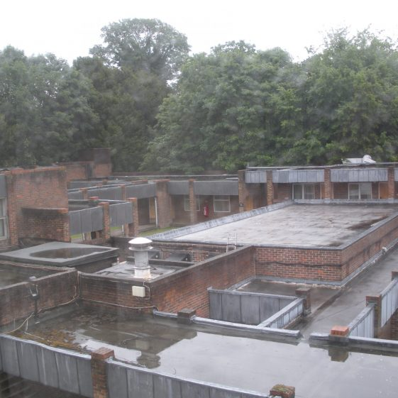 31. View from top floor of C18 wing overlooking Moat House accommodation blocks   R Ross, June 2011