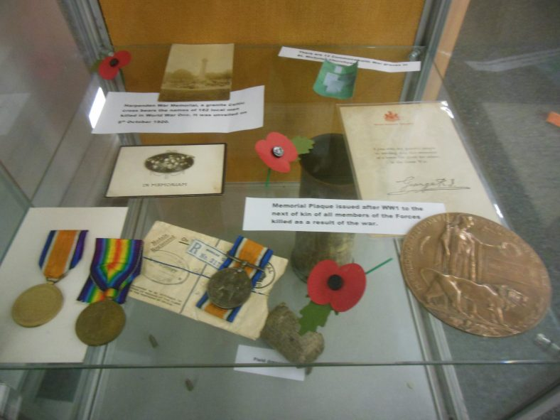 WWI display in Harpenden Library | R Ross, November 2018