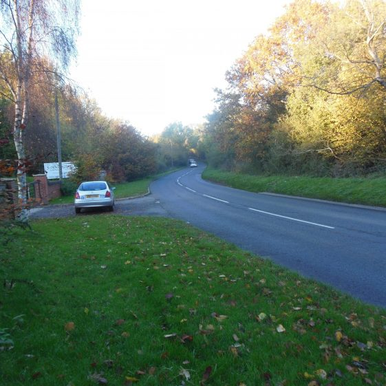 15. Chaul End Road, entrance to Caddington Golf Club - looking North | R Ross, October 2015