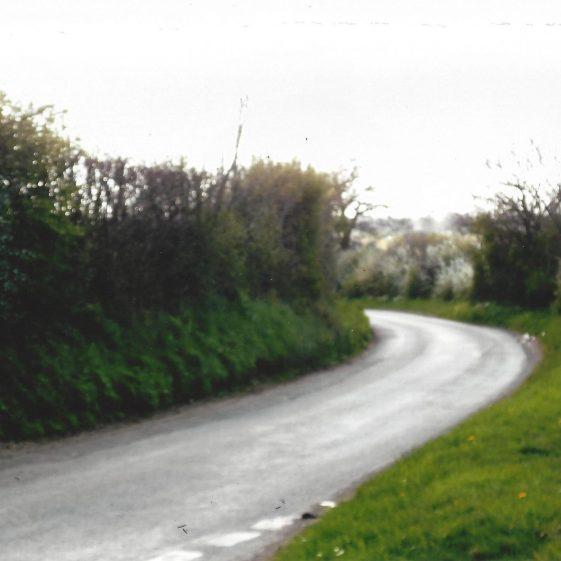 99. Coleman Green Lane: after the junction with Hammonds Lane, it swings towards Sandridge | L F Casey, 2014