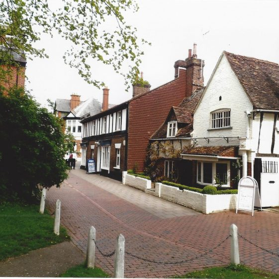 63. Southdown Road (formerly Wheathampstead Road), behind the Harpenden Arms. Storm waters still (usually) flow through here to the old gravel pits on the Common. | L Casey
