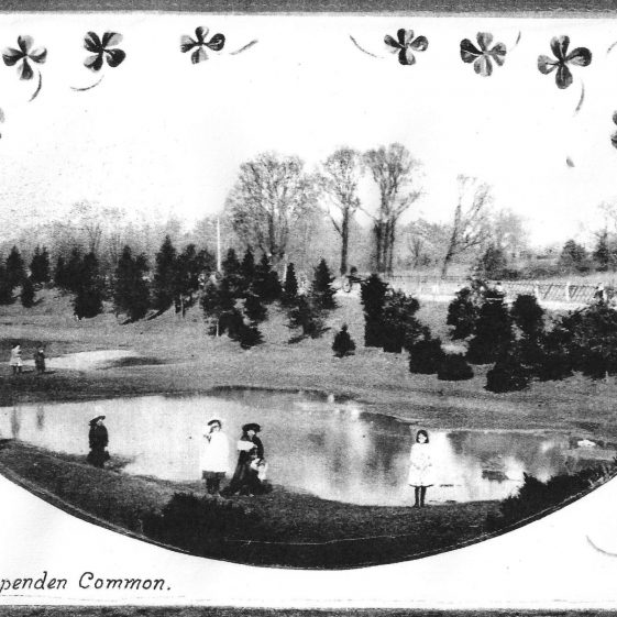 56. The Dell - the water-filled gravel pits on the Common - c.1900 | LHS archives - LHS 001418