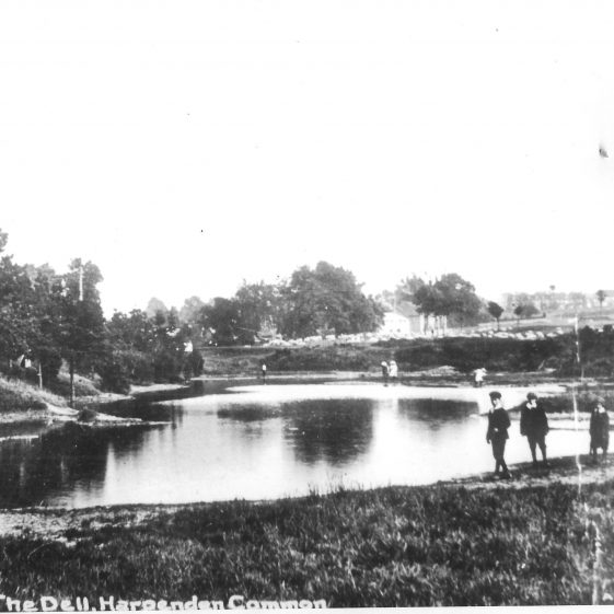 57. The Dell in the early 1900s. Old gravel pits had been dug out, as unemployment relief in 1895. | LHS archives - LHS 014683