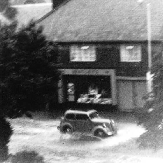 61. Maybe this, and the previous picture, were taken during the storm of 21 June 1936 - see the description of this great storm. | LHS archives - EB High Street North album